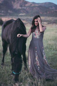 Kristin Rose Davis / Wild One Forever in the Johnny Was Clothing BIYA IPSALA MESH DRESS in Grey Storm