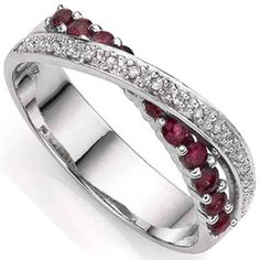 Fashioned in exquisite sterling silver, this ring features 11 pieces vintage round-cut burgundy ruby gemstone that grabs the eye. Decorating the band, a double row of sterling silver adds extra sparkle. Double splendid genuine white diamonds make this ring a stunning one. These ring is unusual and stock is limited, act fast to own one! Our Price : $20.99