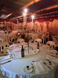 Candlelit table setting Perth Wedding Venues, Beautiful Wedding Venues, Celebration, Table Settings, Ceiling Lights, Life, Place Settings, Outdoor Ceiling Lights, Ceiling Fixtures