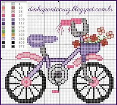 Pretty Cute Bike Cross Stitch |