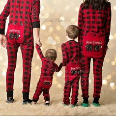 Perfect matching family pajamas for standout Holiday photos.boutique Lazy One Youth & Adult Buffalo Plaid BEAR CHEEKS Flapjack Matching Christmas Pj's Xmas Photos, Family Christmas Pictures, Christmas Couple, Holiday Pictures, Christmas Photo Cards, Christmas Baby, Christmas Morning, Family Pictures, Infant Christmas Outfit