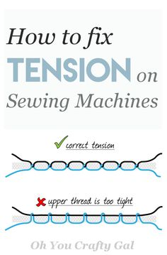 Sewing Techniques Couture How to fix and adjust tension on Glorious Sewing Basic Tips Ideas. All Time Best Sewing Basic Tips Ideas. Sewing Basics, Sewing Hacks, Sewing Tutorials, Sewing Crafts, Sewing Tips, Sewing Ideas, Basic Sewing, Sewing Art, Sewing Machine Tension