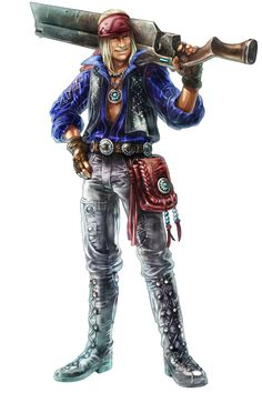 Dickson, One of Dunban's good friends. He fought along side Dunban in Sword Valley. He is a traveler and had been all over Bionis. He is also Shulk's mentor and taught Shulk how to make weapons. He also found Shulk in Valeck mountian where he also found the monado.