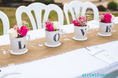 ideas for wedding spring outdoor bridal shower Outdoor Bridal Showers, Bridal Shower Tables, Bridal Shower Centerpieces, Bridal Shower Rustic, Centrepieces, Kate Spade Bridal, Deco Table, Brie, Tea Party