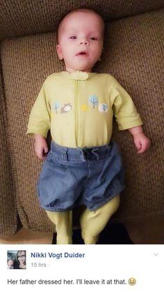 Amikor apa öltözteti a gyereket...   Fotó via boredpanda.com
