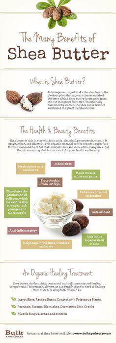 The many benefits of #SheaButter. #beautytips #healthtips