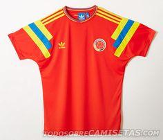 MODA  Camiseta Adidas Originals de Colombia en Italia 90 - Todo Sobre Camisetas  Camiseta De 3e441feae73d5