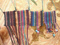 Macramé Cavandoli square necklaces | Flickr - Photo Sharing!