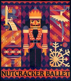 Nutcracker Ballet poster. www.kfales.com Nutcracker Image, Nutcracker Decor, Nutcracker Christmas, Christmas Images, Christmas Art, Ballet Illustration, Ballet Posters, New Year's Crafts, Christmas Poster