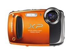 Cámara digital compacta Fujifilm FinePix XP50 sumergible en color naranja  $179.99