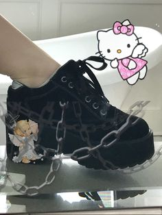 Image about girly in x by bua on We Heart It Aesthetic Shoes, Aesthetic Clothes, Edgy Outfits, Cool Outfits, Lila Baby, Mode Grunge, Goth Shoes, Kawaii Shoes, Pretty Shoes