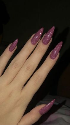 35 charming and beautiful purple nail designs charming purple nail designs How to apply nail polish? Nail polish in your friend's nails looks perfect, neve Stiletto Nail Art, Cute Acrylic Nails, Acrylic Nail Designs, Cute Nails, Pretty Nails, Coffin Nails, Simple Stiletto Nails, Acrylic Nails Almond Glitter, Baby Blue Nails With Glitter
