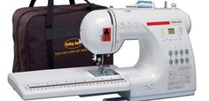 Baby Lock: Audrey travel sewing machine  -- This is the machine that I take to classes.  Wonderful machine.  Sews like a dream.