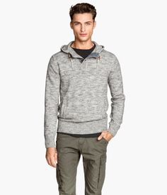 H&M Knitted hooded jumper 8990 Ft
