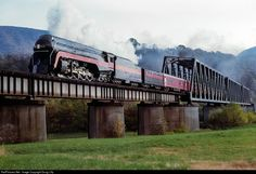RailPictures.Net Photo: N&W 611 Norfolk & Western Steam 4-8-4 at Narrows, Virginia by Doug Lilly