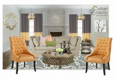 Classic Eclectic Living Room by tarcher | Olioboard One Kings Lane Sponsored Contest April 2012
