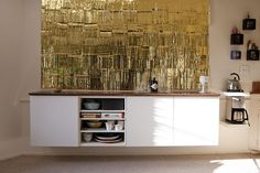I love this credenza made from Ikea's Besta collection.