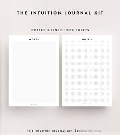 {INTUITION JOURNAL KIT} Beautiful note sheets in both dotted and lined versions. These are just two sheets in the 70 Page Intuition Journal Kit. With 30 designed templates and ritual creation sheets, this is a personalised cocktail made up of one part planner, one part journal and a lot of heart. The Intuition Journal Kit will help you join the dots to your higher purpose. Purchase it now @ www.jochunyan.com
