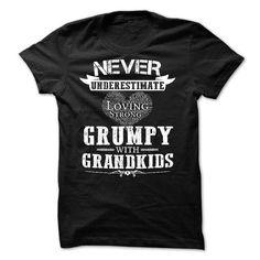 Never Underestimate The Power Of Grumpy with grandkids T Shirts, Hoodies. Get it here ==► https://www.sunfrog.com/Funny/Never-Underestimate--Grumpy-with-grandkids.html?57074 $21.99