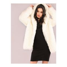 SheIn(sheinside) White Zip Up Faux Fur Coat ($74) ❤ liked on Polyvore featuring outerwear, coats, white, short sleeve coat, leather-sleeve coats, short coat, faux fur coat and imitation fur coats