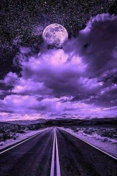 I do not own or claim any photo's music just sharing beautiful artwork and great music. Purple Sky, Purple Love, All Things Purple, Shades Of Purple, Beautiful Nature Wallpaper, Beautiful Moon, Beautiful Landscapes, Purple Wallpaper, Purple Aesthetic