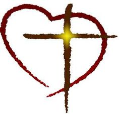 heart and cross. i think this would be a cool tattoo :)