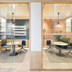 Wooden office partition – PARTITION By design Nicholas Bewick - Arbeitsplatz Industrial Office Design, Modern Office Design, Office Interior Design, Office Interiors, Open Concept Office, Open Office, Partition Design, Office Waiting Rooms, Workspace Design