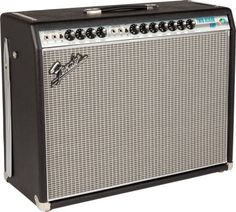 """Fender '68 Custom Twin Reverb Guitar Combo Amplifier: The Fender '68 Custom Twin Reverb's """"Vintage"""" channel has the rich and ballsy tone of the original, while the """"Custom"""" channel offers a more modern tone."""