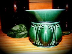 Forest #Green Art Deco #Hull #Planter F470 by GoldiesNaturalGems #vintage #Etsy #homedecor