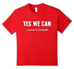 Kids Yes We Can...Move To Canada National Canada Day T-shirt 8 Red