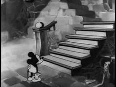 """Mickey Mouse and Pluto: """"The Mad Doctor"""" (1933). Some of the skeletons look like they're recycled from Disney's 1929 Silly Symphony """"The Skeleton Dance."""""""