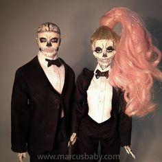 Rick Genest, Play Barbie, Barbie Life, Lady Gaga Doll, Zombie Crafts, Ooak Dolls, Monster High, Halloween Face Makeup, Anime