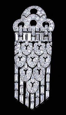 AN ART DECO DIAMOND PENDANT BROOCH, BY LACLOCHE FRÉRES. Designed as circular-cut…