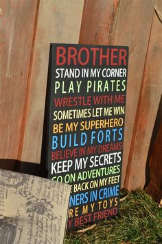 boys room signs brother signs boys bedroom by DesignsOnSigns3