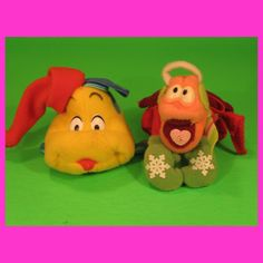 1989 McDonalds - Little Mermaid plush ornaments set of 2