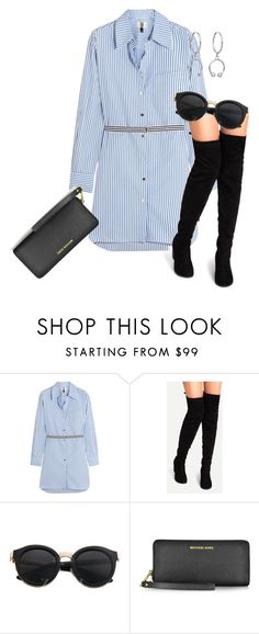 """""""Senza titolo #2738"""" by gargo ❤ liked on Polyvore featuring Topshop Unique, Michael Kors and Maria Francesca Pepe"""