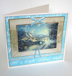 Thomas Kinkade Decoupage - Christmas Lights.