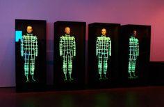 "nadyawasylko: "" Kraftwerk in the house! MoMA, New York - April 2012 "" Top 10 Music, Progressive House, House Music, Moma, Electronic Music, April 10, October, Neon Signs, Creative Ideas"