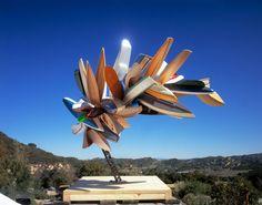 Boat sculptures by Nancy Rubins