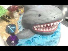 Homemade cake and buttercream icing. Designed and Created by Michele Cake Decorating, Decorating Ideas, Shark Cake, Buttercream Icing, Cake Tutorial, Homemade Cakes, Sharks, Cake Designs, Amazing Cakes