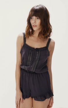 Prettiest sleepwear.... The Wildfox Intimates English Toile Bustier & Short Set