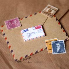 airmail envelope brooch: via plasticbat ~ LOVE this!  :)