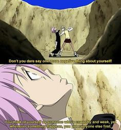 Soul Eater--- I love how defencive Maka is with Crona and shell do anything for him, she just wants him to do the best vor himself. And Crona is just soooo sweet I Love Anime, Awesome Anime, Me Me Me Anime, Soul Eater Quotes, Manhwa, Anime Soul, Anime Art, Kaichou Wa Maid Sama, Anime Comics