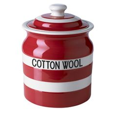Cornish Red coffee storage jar An elegant and stylish way to keeps your grounds fresh. See also our Tea Storage Jar.