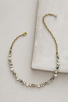 Brass Baguette Choker - anthropologie.com