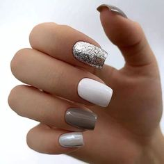 Nail art is a very popular trend these days and every woman you meet seems to have beautiful nails. It used to be that women would just go get a manicure or pedicure to get their nails trimmed and shaped with just a few coats of plain nail polish. Cute Acrylic Nails, Fun Nails, Pretty Nails, Simple Acrylic Nail Ideas, Simple Nails, Short Nail Designs, Nail Art Designs, Nails Design, Super Nails