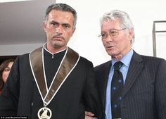 Mourinho pictured with father Felix, who made over 250 Portuguese league appearances during his career