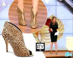 Katerina Zarifi wearing her #MIGATO GZ7045 animal prints ankle boots at the Eleni show!