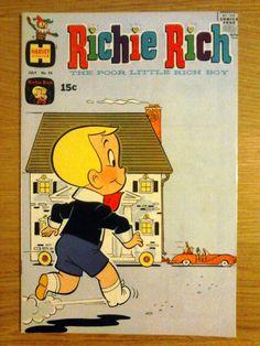 Richie Rich, the Poor Little Rich Boy Vintage Comic Book