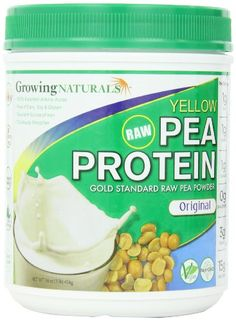 Gold Standard Raw Yellow Pea Protein Powder from Growing Naturals. The first raw USA and Canadian grown yellow peas, are synergistically combined with Growing Natural's patented water extraction process. Natural Protein Powder, Pea Protein Powder, Dairy Free Treats, Thing 1, Plant Based Protein, Amino Acids, Gourmet Recipes, Health And Beauty, Keto